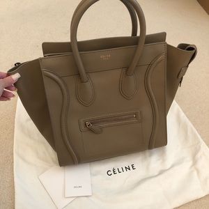 Celine Mini Luggage in Camel, smooth leather